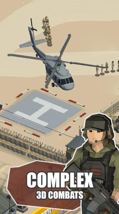 空闲战区3D:陆军大亨游戏截图