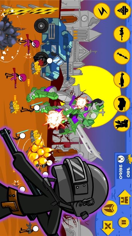 火柴人全面战争:现代游戏截图