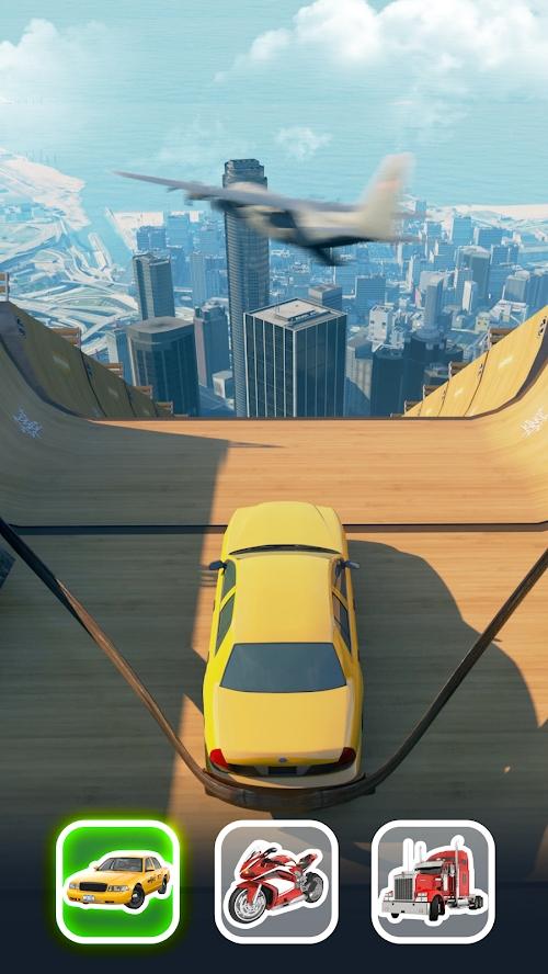 超级坡道汽车跳跃游戏截图