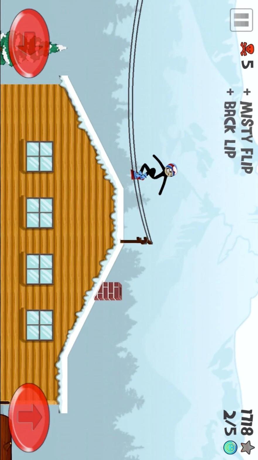 火柴人滑雪游戏截图